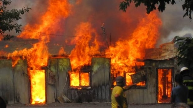 Fire at the Duval dairy farm