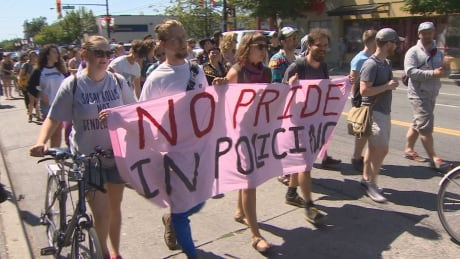 'We're all here and stronger together,' say participants at Dyke March joined by Black Lives Matter