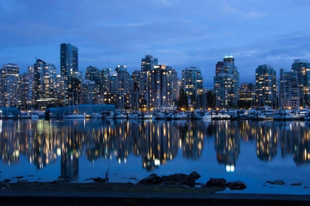 Vancouver city at night