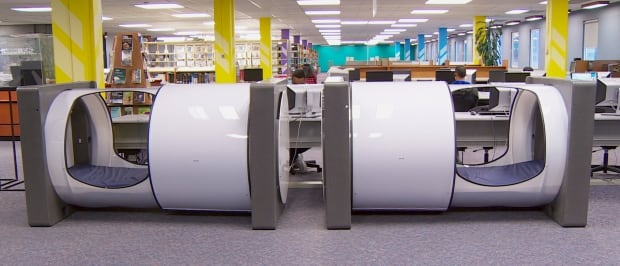 Bcit Installs New Sleep Pods In Library British Columbia