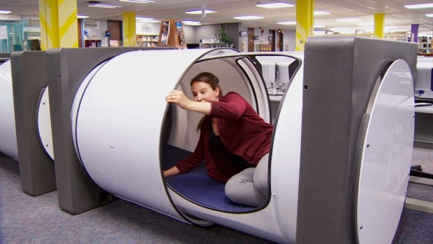 Bcit installs new sleep pods in library british columbia for Napping pods google
