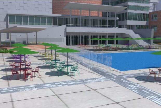 City of kitchener reveals proposed design for carl zehr for Pool design kitchener