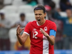 Although the Rio Olympics haven't officially begun, the Canadian women's soccer team got off to an early start with a play set up by team captain Christine Sinclair.