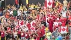 Canadian crowd at womens rugby 7s vs Aus Aug 8 2016
