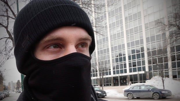 Aaron Driver seen after a Feb. 2, 2016, court appearance in Winnipeg. Driver, an ISIS supporter who died in a confrontation with police Wednesday, attended the London Muslim Mosque in southern Ontario.