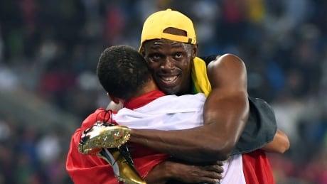 Name * Rio Olympics Day 9 Aug 14 2016 highlights de grasse bolt hug