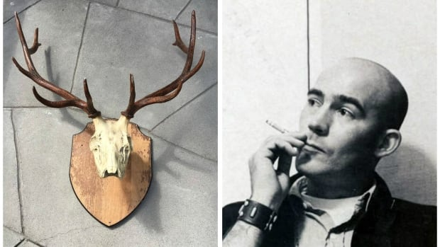 Hunter S. Thompson elk antlers collage
