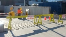 Courthouse ramp construction