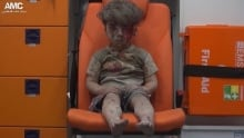 Mideast Syria Airstrikes wounded child Omran Daqneesh