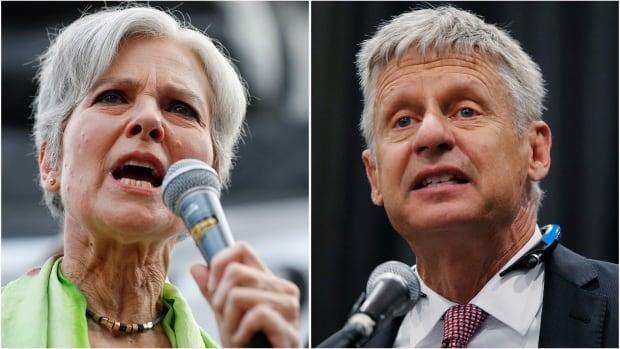 Jill Stein and Gary Johnson composite