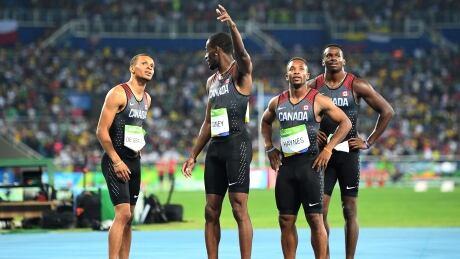 Canada 4x100m team