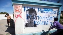 Haiti Cholera Protest