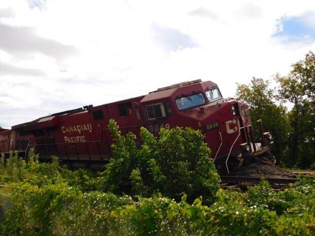 CP Rail derailment in Toronto