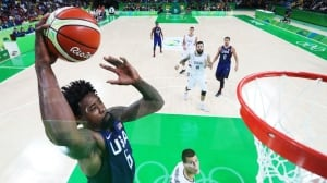 U.S. hammers Serbia to win 3rd straight men's basketball gold