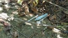 Used needles on Schubert Drive, Kamloops