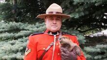 RCMP Cpl. Jason Pinder with a beaver kit