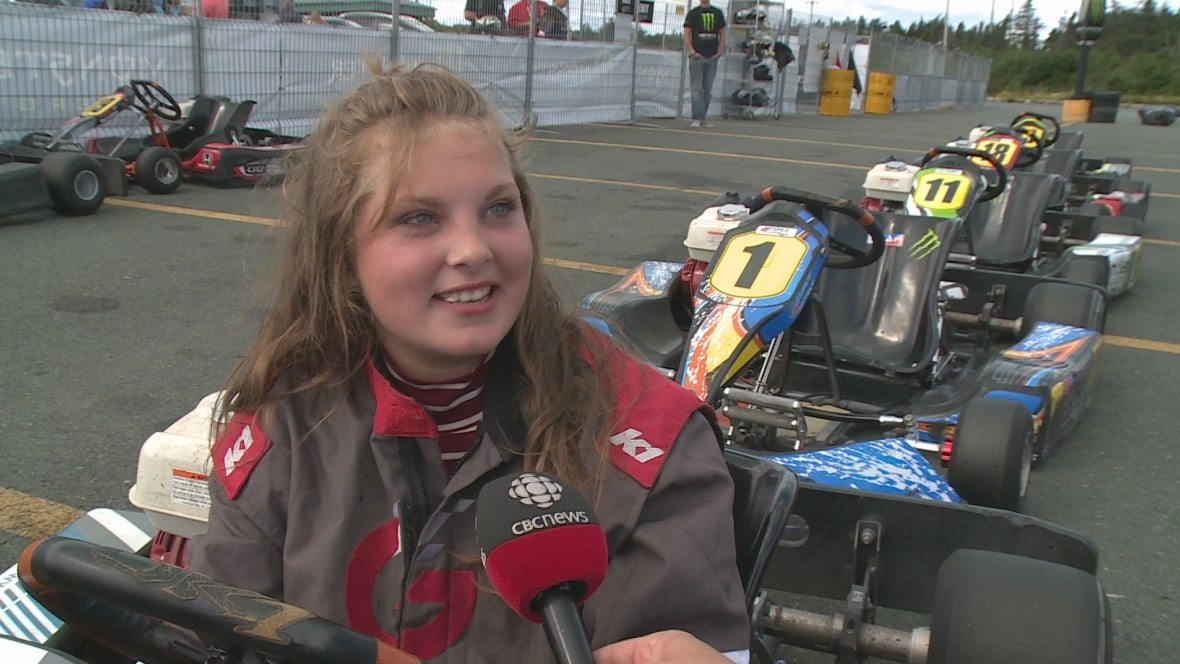 Rookie racers reach high speeds in torbay newfoundland for Go kart montreal exterieur