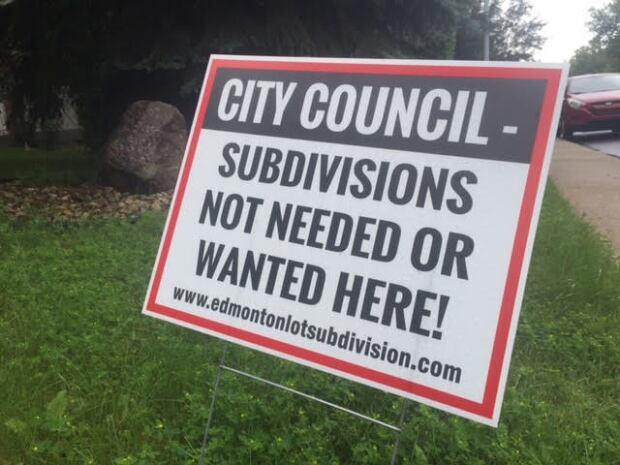 Brander Garden no subdivision sign