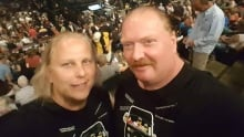 Colin McGaffin and Chad Chausse at the Tragically Hip Ottawa show.