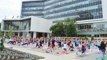 Yoga at city hall Hamilton