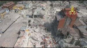 Drone footage shows devastation from Italy quake