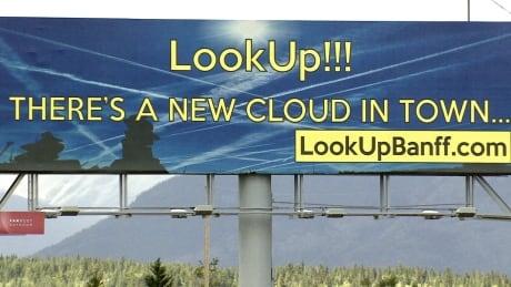 Chemtrail billboard in Alberta