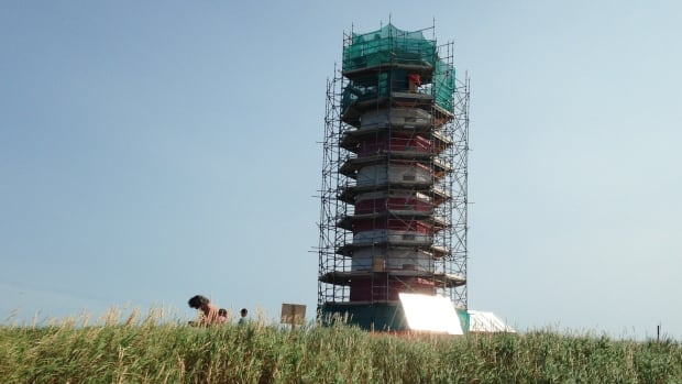Sambro Island lighthouse work