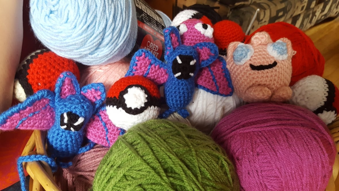 Crochet Patterns Pokemon Characters : Sudbury woman hides handmade Pokemon characters around the ...