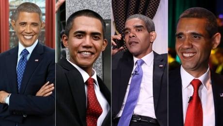 Obama impersonators collage