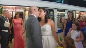 Couple who met on SkyTrain tie the knot on Canada Line