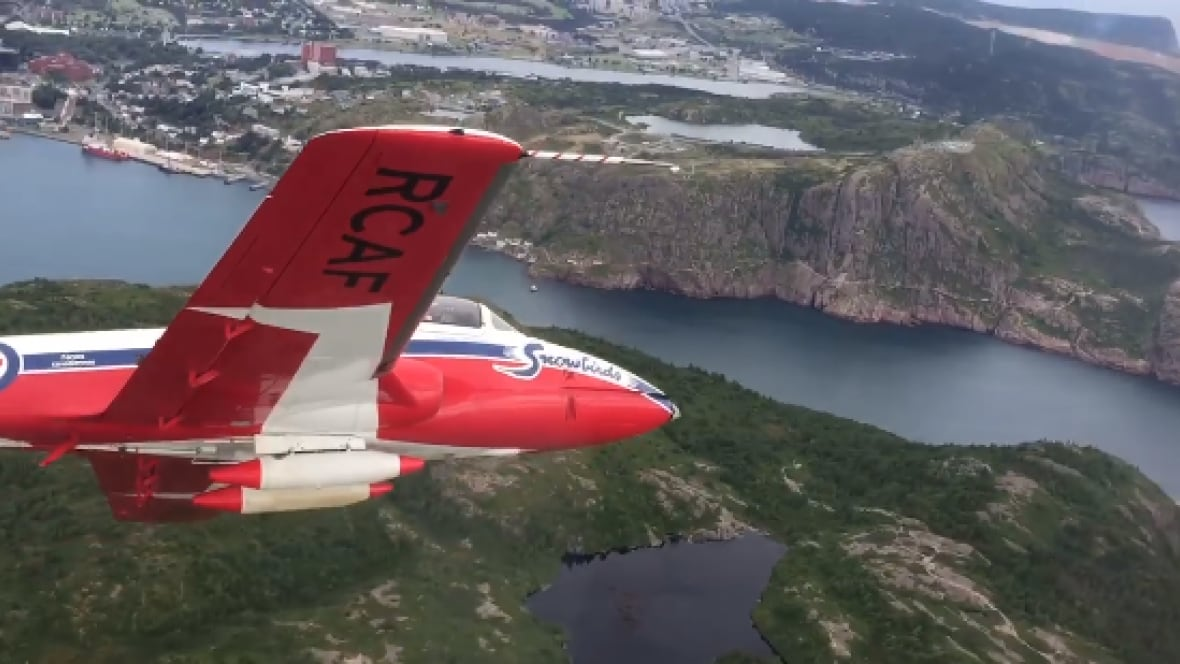 Snowbirds Fly Over St John S Narrows In Incredible Aerial