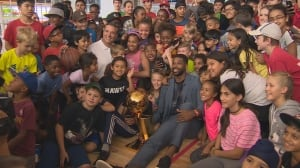 NBA star Tristan Thompson visits hometown of Brampton, receives key to city