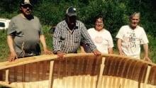 Birchbark canoe Quebec museum