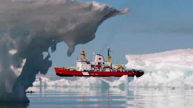 The Canadian Coast guard's medium icebreaker Henry Larsen is seen in Allen Bay during Operation Nanook, in Nunavut on Aug. 25, 2010.