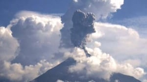 Mexican volcano Colima erupts with force