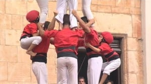 Barcelona town celebrates human tower performance artists