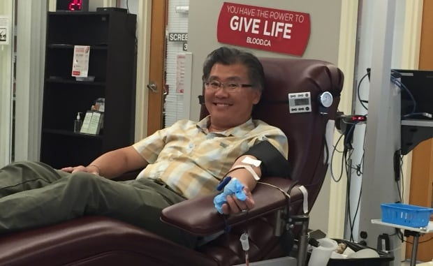 Ronald Pong, blood donor