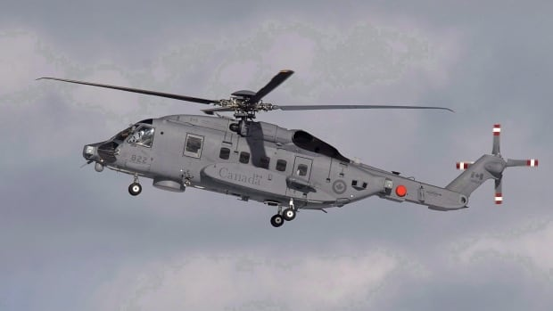 A CH-148 Cyclone maritime helicopter is seen during a training exercise at 12 Wing Shearwater near Dartmouth, N.S., on Wednesday, March 4, 2015. The air force says it will now be 2025 before the Cyclone fleet reaches full operating capability.