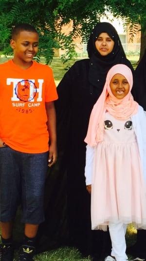 Faiza Dirir & her children