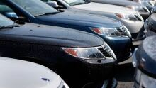 Stock car dealer lot