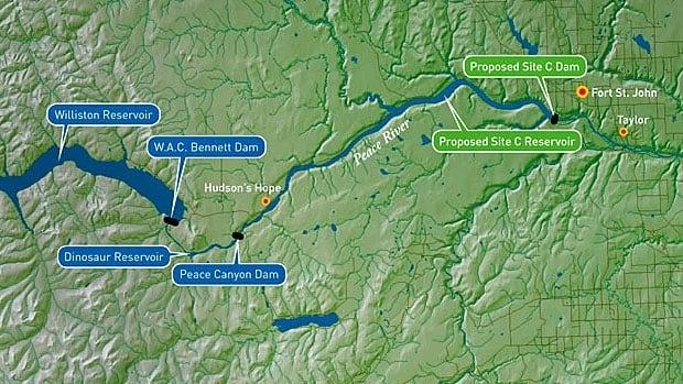 B.C. Hydro's Site C Map