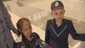 Faysal Hajidiriye and Nimo Ali's two children