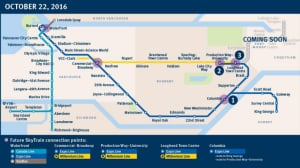 SkyTrain network changes start today