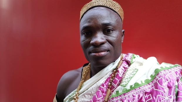 Asante chief returns to his landscaping job to develop his people