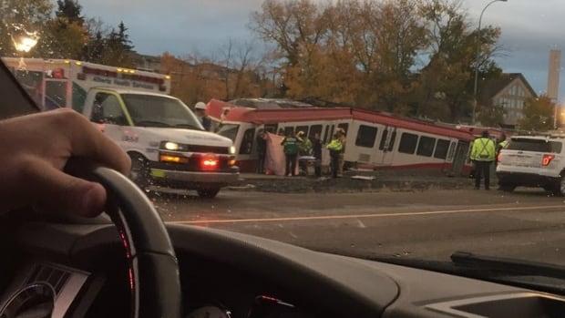 Light-rail transit train derails during morning rush in northwest Calgary