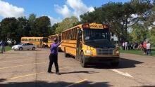School buses evacuation