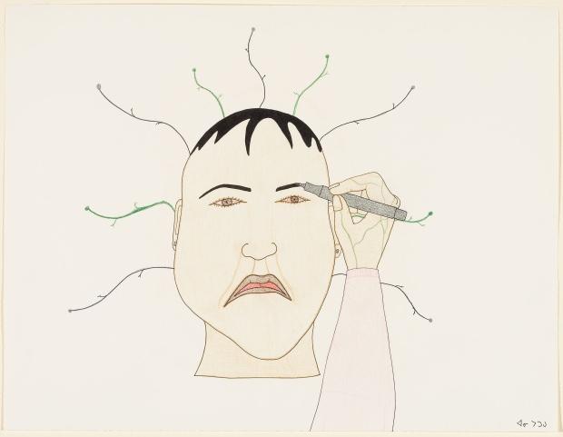 Fine Liner Eyebrow, by Annie Pootoogook