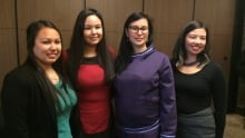 Inuit youth leaders at suicide conference
