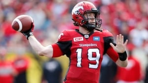 Stampeders blow huge lead, hold on against Blue Bombers