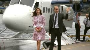 Royal couple arriving in Vancouver